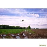 Внесение сыпучих минеральных удобрений авиацией