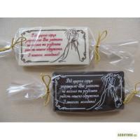 Шоколадые пригласительные на свадьбу