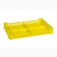 Ящик пластиковый 400х265х54, 2 кг, (1 сорт), морозостойкий