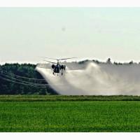 Опрыскивание озимого гороха НС Мороз инсектицидами с вертолета
