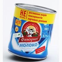 Сгущенное молоко 8, 5% ГОСТ на экспорт от производителя