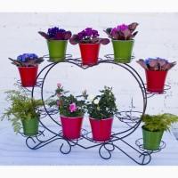Кованая подставка для цветов СЕРДЦЕ 11