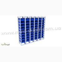 Стеллажи с выдвижными пластиковыми ящиками Logic Store