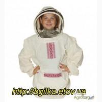 Куртка пчеловода Евро «Вышиванка» Бязь суровая