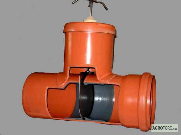 запорные клапаны на канализационные трубы