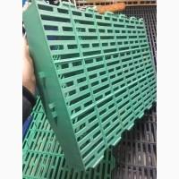 Пластиковые щелевые полы для свиноферм, птицеферм, кроликов зелёный