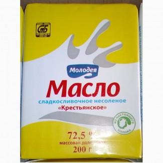 Продам масло Воложинское 72, 5% производство Беларусь Молодечненский мол.з-д 200 гр