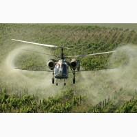 Авіаційне обприскування землі і агрокультур з вертольота по всій Україні