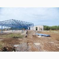 Строительство производственных помещений. Монтаж металлоконструкций
