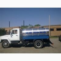 Молоковоз ГАЗ. МАЗ и на шасси заказчика от 3900л, 4000, 5000, 8000 и более