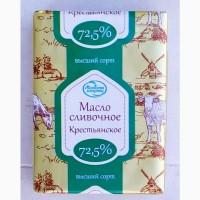 Продам масло Крестьянское 72, 5% производство Беларусь 200 г