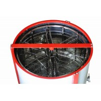 Медогонка 6-ти рамочная с автоматическим поворотом кассет под рамку Дадан (АВВ-100)