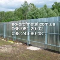Профнастил на забор ПС-8, Профлист ПС-8 от завода, Киев завод Профнастил ПС-8
