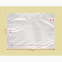 Самоклеящиеся конверты С6 из прозрачного полиэтилена для сопроводительных документов