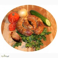 Домашние колбасы копченые на дровах от производителя