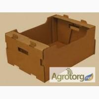 Картонный ящик под клубнику, малину, персик, черешню, виноград