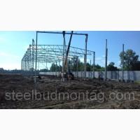 Строительство производственного цеха 24*60*7. Монтаж металлоконструкций