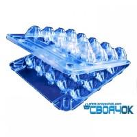 Пластиковая упаковка для перепелиных яиц на 20 ячеек 50шт/уп