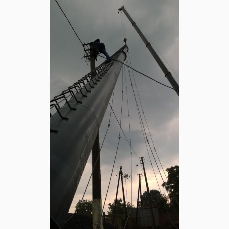 Фото 17. Возведение конструкций металлических дымовых труб