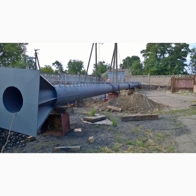 Фото 20. Возведение конструкций металлических дымовых труб