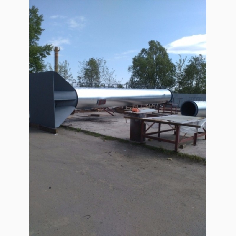 Фото 2. Возведение конструкций металлических дымовых труб