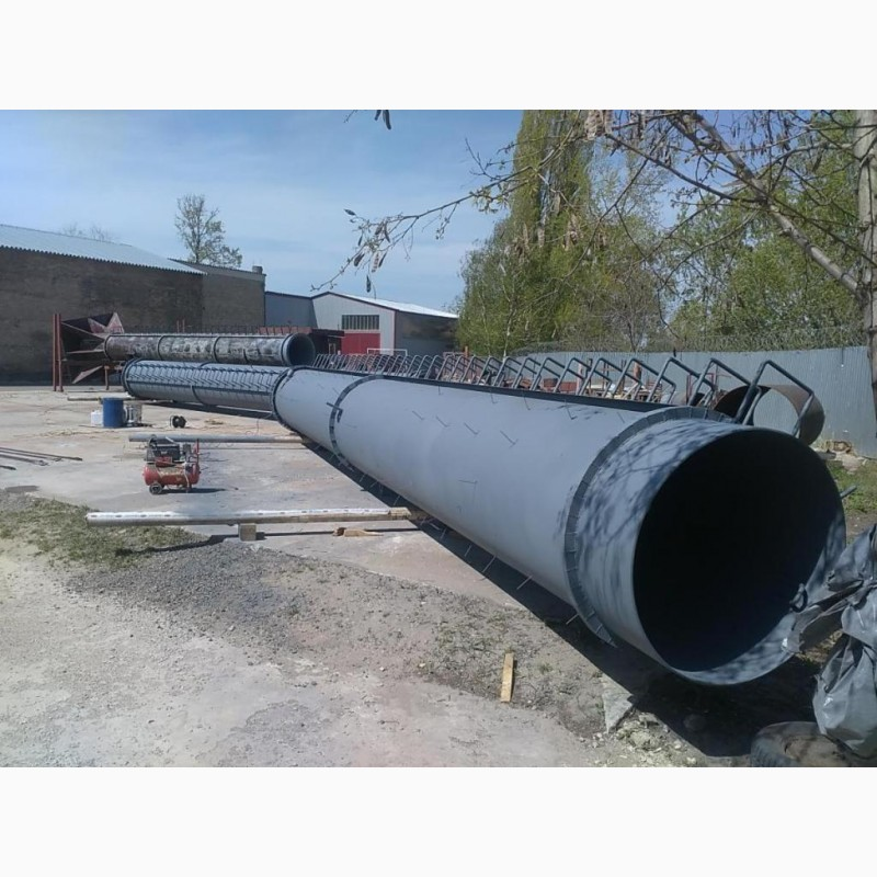 Фото 4. Возведение конструкций металлических дымовых труб