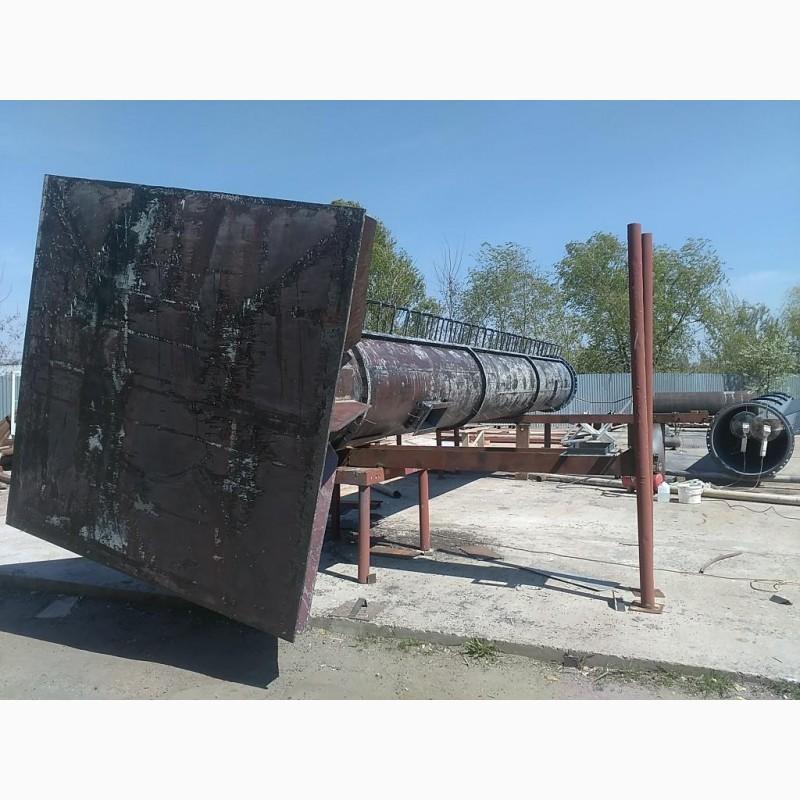 Фото 11. Возведение конструкций металлических дымовых труб