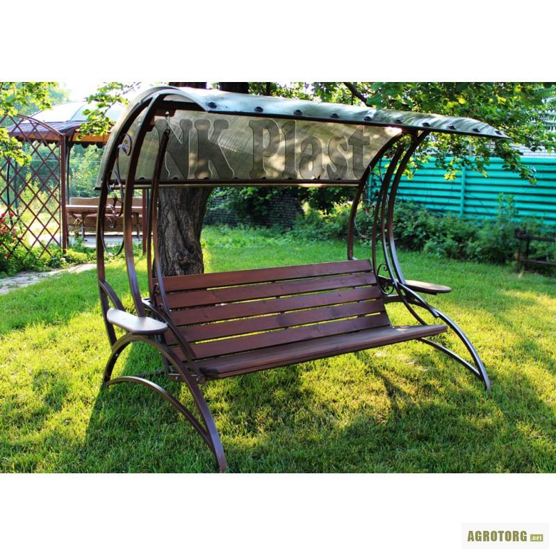 Садовые железные качели фото