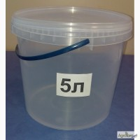 Ведра пластиковые с крышкой 5 литров