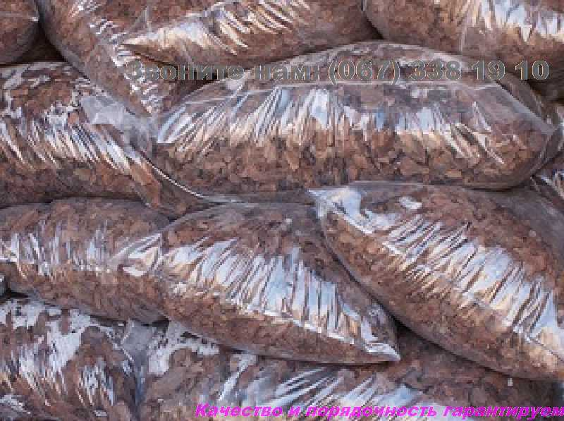 Фото 4. Кора сосновая для мульчирования Мульча Киев Киевская область купить кора крупная