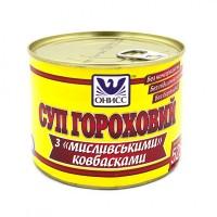 Суп гороховый с «Охотничьими» колбасками, консервы, на 2 порции, Готовые блюда, Одесса