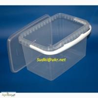 Ведро пластиковое прямоугольное 2 л