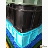 Ящики пластикові (перфоріровані) для ягод, грибів (аналог чешки)