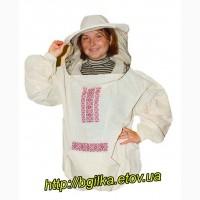 Куртка пчеловода Классика «Вышиванка» Бязь суровая