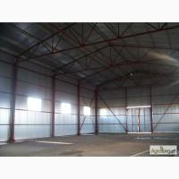 Строительство складского помещения. Монтаж металлоконструкций