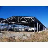Виробничо-складське приміщення 18*90*4. Монтаж металоконструкцій