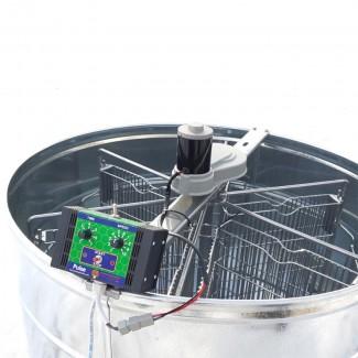 Медогонка полуавтоматическая оцинкованнаяна 6 рамок, с ременным электроприводом 12В