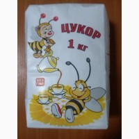 Продам цукор фасований Бджілка 1кг, 1/10 (паперовий пакет)
