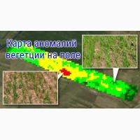 Cоздание карт проблемных участков полей на основе оперативных космоснимков
