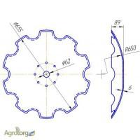 Диск бороны АГ, АГД, УДА (наружный диаметр 655 и 510 мм)