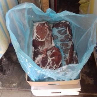 Продам печень говяжью картонный ящик