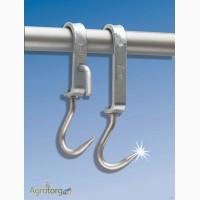 Крюк скользящий для трубчатых подвесных путей