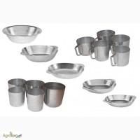 Алюминиевые кружки, тарелки и стаканы