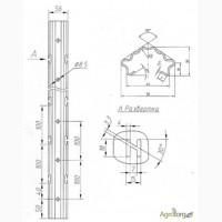 Металлическая опора, для установки шпалеры в садах и виноградниках