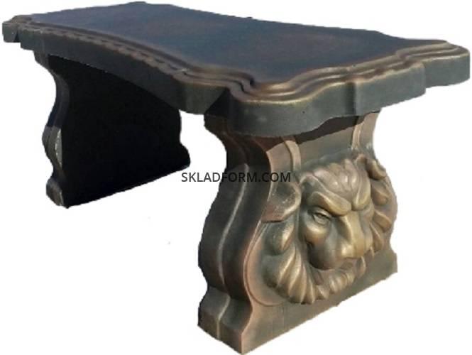 Формы для скамеек со львом
