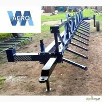 Сцепка зубовых борон СЗБ-10У, длина 10 метров для тракторов ЮМЗ и МТЗ