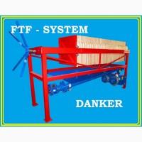 Фильтр-пресс напорно-вакуумный полуавтоматический рамочный danker