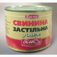 Тушенка свинная говяжья в ж/б 525 г