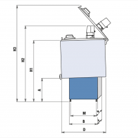Охладитель молока новый Frigomilk G1объемом 200 литров