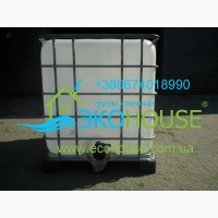 Кубовик еврокуб пищевой в обрешетке на поддоне 1000 л
